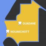 Carte zoomée de la Mauritanie